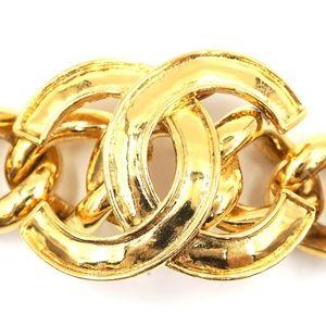 Chanel Jewelry - Gold Ultra Rare Cc Wide Chain Cuff Bracelet